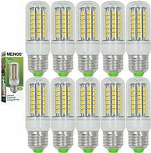 MENGS® 10 Stück E27 LED Lampe 7W AC 220-240V