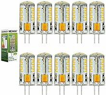 MENGS® 10 Stück G4 3W LED Birne 57x3014 SMD LED