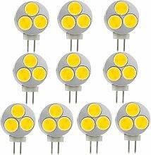 MENGS® 10 Stück G4 COB LED Lampe 3W DC 12V