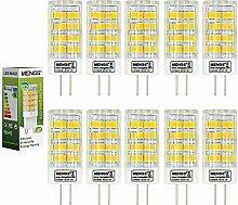MENGS® 10 Stück G4 LED Lampe 5W AC/DC 12V Kaltweiß 6500K 51x2835 SMD Mit Keramic und ACRYLIC Material