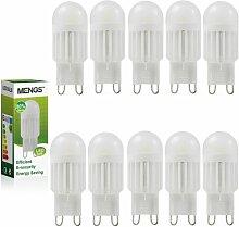 MENGS® 10 Stück G9 LED Lampe 5W AC 220-240V Warmweiß 3000K Mit Keramik Körper
