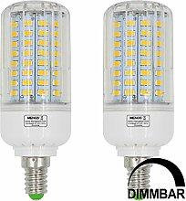 MENGS® 2 Stück Dimmbar E14 12W LED Lampe
