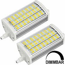 MENGS® 2 Stück Dimmbar R7s-J118 118mm LED Lampe 15W AC 220-240V Warmweiß 3000K 48x5730 SMD Mit Aluminium Mantel