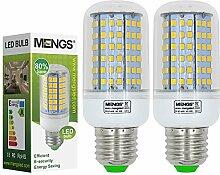 MENGS® 2 Stück E27 LED Lampe 12W AC 220-240V Warmweiß 3000K 126x2835 SMD