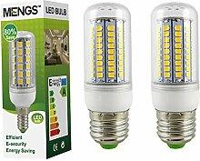 MENGS® 2 Stück E27 LED Lampe 12W AC 220-240V Warmweiß 3000K 102x2835 SMD