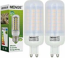 MENGS® 2 Stück G9 LED Lampe 9W AC 220-240V Warmweiß 3000K 69x5050 SMD