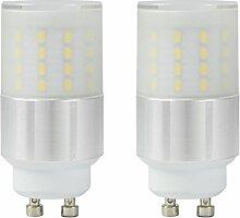 MENGS® 2 Stück GU10 5W LED Lampe 50x3014 SMD Leuchtmittel Mit Aluminium und PC Mantel (400LM, Warmweiß 3000K , AC 110-240V, 360º Abstrahlwinkel, Ø29 x 61mm) Energiespar Licht sehr gut für die Wärmeabgabe