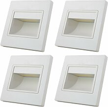 MENGS® 4 Stück 1W COB LED Wand &