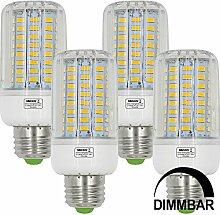 MENGS® 4 Stück Dimmbar E27 12W LED Lampe