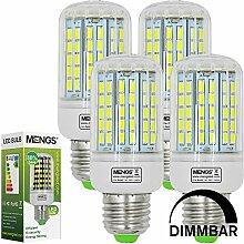 MENGS® 4 Stück Dimmbar E27 LED Lampe 15W AC