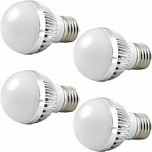 MENGS® 4 Stück Dimmbar E27 LED Lampe 3W AC