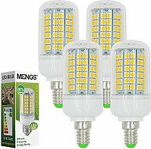 MENGS® 4 Stück E14 LED Lampe 12W AC 220-240V Warmweiß 3000K 96x5050 SMD