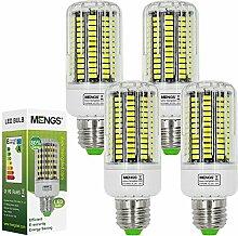 MENGS® 4 Stück E27 LED Lampe 18W AC 220-240V Kaltweiß 6500K 136x5733 SMD Mit PC Mantel
