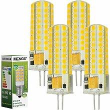 MENGS® 4 Stück G4 LED Lampe 7W AC/DC 12V Warmweiß 3000K 72x2835 SMD Mit Silikon Mantel