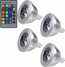 MENGS® 4 Stück MR16 3W LED RGB Lampe Birne &