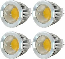 MENGS® 4 Stück MR16 COB LED Lampe 5W DC 12V
