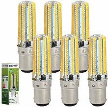 MENGS® 6 Stück B15D LED Lampe 7W AC 220-240V Warmweiß 3000K 152x3014 SMD Mit Silikon Mantel