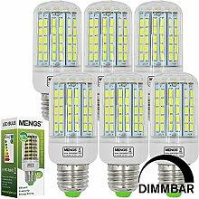 MENGS® 6 Stück Dimmbar E27 LED Lampe 15W AC 220-240V Kaltweiß 6500K 96x5730 SMD