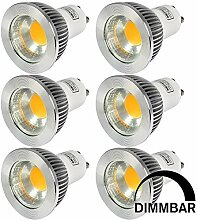 MENGS® 6 Stück Dimmbar GU10 COB LED Rampenlicht