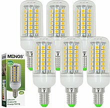 MENGS® 6 Stück E14 LED Lampe 7W AC 220-240V Warmweiß 3000K 48x5050 SMD
