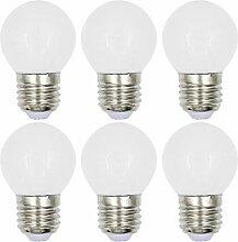 MENGS® 6 Stück E27 3W LED Birne 2835 SMD LED Lampe & Leuchtmittel mit Glasmantel (180LM, AC 220V, Warmweiß 3000K, 360º Abstrahlwinkel, Ø45 x 70mm) Energiespar Lich