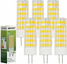 MENGS® 6 Stück G4 LED Lampe 7W AC/DC 12V Warmweiß 3000K 75x2835 SMD Mit ACRYLIC und Keramik Mantel