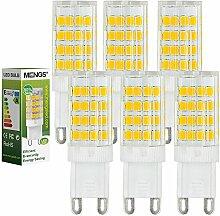 MENGS® 6 Stück G9 LED Lampe 5W AC 220-240V Warmweiß 3000K 51x2835 SMD Mit Keramic und ACRYLIC Material