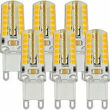 MENGS® 6 Stück G9 LED Lampe 5W AC 220V - 240V