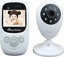 Mengshen 2.4 Zoll LCD-Farbdisplay Wireless Video Babyphone Baby Monitor mit Zwei-Wege-Audio / Nachtsicht / 4 Lullabies / Temperaturerkennung für Baby Säuglingskinder Old Pet SP880Ou