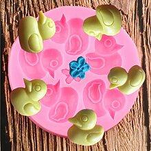 MENGYANG 3D Ente Silikon Formen Blume Cupcake