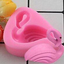 MENGYANG Flamingos Silikonformen Schokoladenform