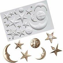 MENGYANG Silikonform Pentagramm & Mondform