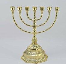Menorah Hebräischer Kerzenleuchter aus Messing