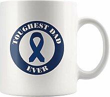 Mens Colon Cancer Awareness Becher Härtester