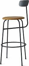 Menu - Afteroom Bar Chair, schwarz / cognac