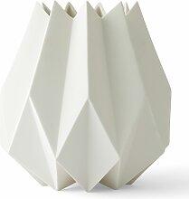 Menu Folded Vase Tall Weiß (h) 23 X (Ø) 13 Cm