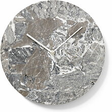 Menu - Marble Wanduhr, grau