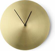 Menu Norm Wall Clock Uhr Gebürstetes Messing (t) 2.7 X (Ø) 30 Cm