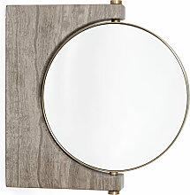 Menu - Pepe Marmor Wandspiegel, Messing / braun
