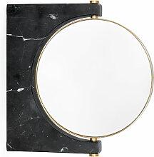 Menu - Pepe Marmor Wandspiegel, Messing / schwarz