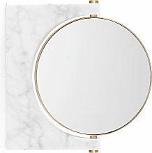 Menu - Pepe Marmor Wandspiegel, Messing / weiß