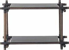 Menu Stick System 1x2 Schrank Schwarz (b) 73.4 X (t) 50.1 X (h) 58 Cm
