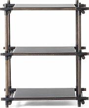 Menu Stick System 1x3 Schrank Schwarz (b) 73.4 X (t) 50.1 X (h) 95.7 Cm