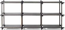 Menu Stick System 3x3 Schrank Schwarz (b) 195.4 X (t) 50.1 X (h) 95.7 Cm