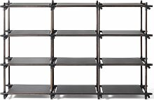 Menu Stick System 3x4 Schrank Schwarz (b) 195.4 X (t) 50.1 X (h) 133.4 Cm