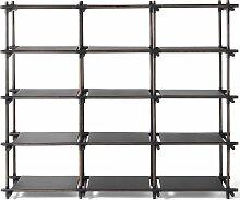 Menu Stick System 3x5 Schrank Schwarz (b) 195.4 X (t) 50.1 X (h) 171.1 Cm