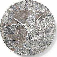 Menu Wanduhr Marmor Grau (t) 3.5 X (Ø) 30 Cm