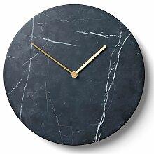 Menu Wanduhr Marmor Uhr Schwarz (t) 3.50 X (Ø)