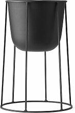 Menu Wire 404 Blumentopf Schwarz (h) 40 X (Ø) 23