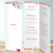 Menükarten Design, Bumblebee 30 Karten, Vertikale Klappkarte 100x300, Ro
